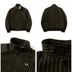 FRED PERRY(フレッドペリー)/ハリントンジャケット(F2472) Black x Off White -送料無料-