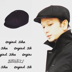 Original John(オリジナルジョン)/ペーパーボーイキャップ(HTPC281) Black