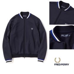 FRED PERRY(フレッドペリー)/ボンバーネックトラックジャケット(F2506) Navy -送料無料-