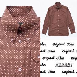 Original John(オリジナルジョン)/ドットレトロボタンダウンシャツ Brown -送料無料-
