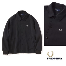 FRED PERRY(フレッドペリー)/ジャージコーチジャケット(F2509) Black -送料無料-