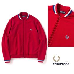 FRED PERRY(フレッドペリー)/ボンバーネックトラックジャケット(F2506) Red -送料無料-