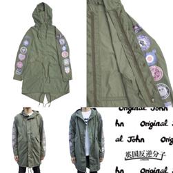 Original John オリジナルジョン / モッズコート(12WAPPENS) Olive -送料無料-