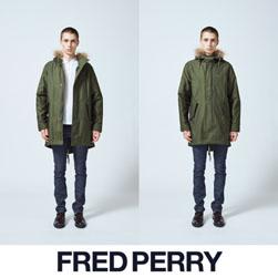 FRED PERRY フレッドペリー /モッズコート (FISHTAIL PARKA F2516) Olive -送料無料-