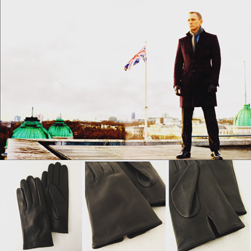 DENTS デンツ /ヘアシープグローヴ(5-1007 James Bond - Skyfall Leather Gloves) Black -送料無料-