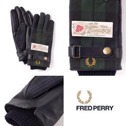 FRED PERRY フレッドペリー / レザーコンビグローブ(F19840) Navy -送料無料-