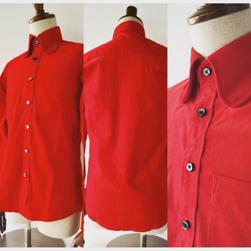 Original John(オリジナルジョン)/コーデュロイビーグルカラーシャツ Red