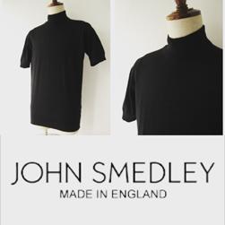 JOHN SMEDLEY(ジョンスメドレー)/シーアイランドコットンモックネック(S3813) Black -送料無料-