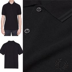 FRED PERRY(フレッドペリー)/ラインポロシャツ(M12N) Black x Black -送料無料-