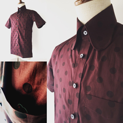 Original John(オリジナルジョン)/ポルカドットビーグルカラーシャツ(SHBC271) Burgundy -送料無料-.jpg