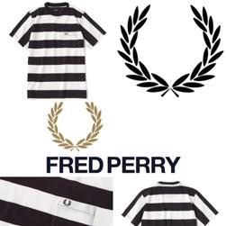 FRED PERRY(フレッドペリー)/カノコボーダーTシャツ(F1624) Black x White