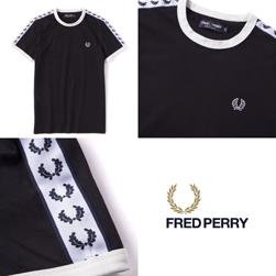 FRED PERRY(フレッドペリー)/テープドリンガーTシャツ(M6347) Black
