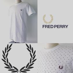 FRED PERRY(フレッドペリー)/スクエアドットTシャツ(M1553) White