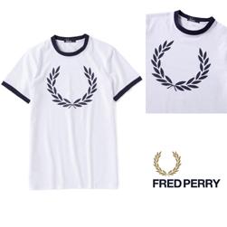 FRED PERRY(フレッドペリー)/リンガーTシャツ(M1532) White