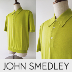 JOHN SMEDLEY(ジョンスメドレー)/シーアイランドコットンポロシャツ(ISIS) Zaha Green -送料無料-
