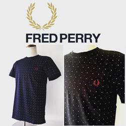 FRED PERRY(フレッドペリー)/スクエアドットTシャツ(M1553) Navy