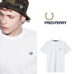 FRED PERRY(フレッドペリー)/クルーネックTシャツ(M6334) White
