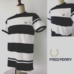 FRED PERRY(フレッドペリー)/ボーダーTシャツ(M2529) Navy x White