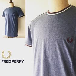 FRED PERRY(フレッドペリー)/ツインティッピングTシャツ(M1588) Clay Marl