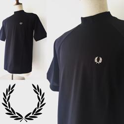 FRED PERRY(フレッドペリー)/モックネックTシャツ(F1661) Black