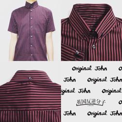 Original John(オリジナルジョン)/クラシックラウンドカラーボタンダウンシャツ Black -送料無料-
