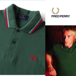 FRED PERRY(フレッドペリー)/ラインポロシャツ(M12N) Tartan Green x Ice x Red -送料無料-