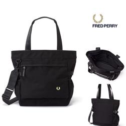 FRED PERRY(フレッドペリー)/ナイロントートバッグ(F9282) Black -送料無料-