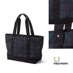 FRED PERRY(フレッドペリー)/ピケトートバッグ(F9278) Blackwatch -送料無料-