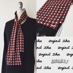 Original John(オリジナルジョン)/スカーフ(JOHN'S SCARVES) Red x Black Optical
