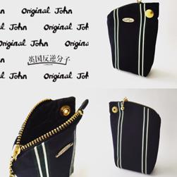 Original John(オリジナルジョン)/ストライプポーチ Green x Navy