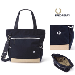 FRED PERRY(フレッドペリー)/ナイロントートバッグ(F9282) Navy -送料無料-