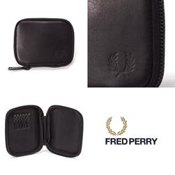 FRED PERRY(フレッドペリー)/ジップアラウンドレザーキーケース(F19830) Black -送料無料-
