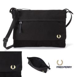 FRED PERRY フレッドペリー / ナイロンサコッシュバッグ(F9283) Black