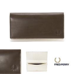 FRED PERRY フレッドペリー / ローレルダイレザーパース(F19854) Khaki -送料無料-
