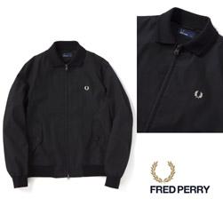 FRED PERRY フレッドペリー / ニットカラーブルゾン (F2538) Black -送料無料-