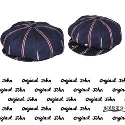 Original John オリジナルジョン / ブリティッシュキャスケット(HTBC301) Navy Stripe