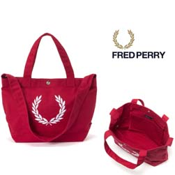 FRED PERRY フレッドペリー / ローレルリースキャンバストートバッグ(F9528) Red