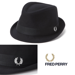 FRED PERRY フレッドペリー / ピケトリルビーハット(HW3641) Black