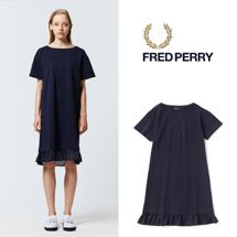 FRED PERRY フレッドペリー / レディーステクスチャードショートスリーブドレス (F8413) Navy -送料無料-