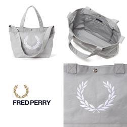 FRED PERRY フレッドペリー / ローレルリースキャンバストートバッグ(F9528) Grey