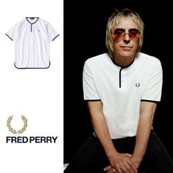 FRED PERRY フレッドペリー / カノコヘンリーネックTシャツ(F1673) White