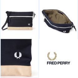 FRED PERRY フレッドペリー / ナイロンサコッシュバッグ(F9283) Navy