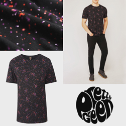 PRETTY GREEN プリティーグリーン / ドットプリントTシャツ(OWLSEY) Black