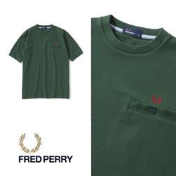 FRED PERRY フレッドペリー / カノコポケットTシャツ(F1674) Green