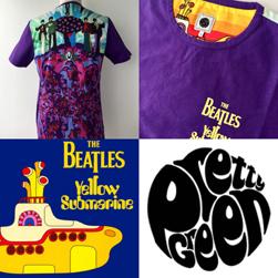 PRETTY GREEN プリティーグリーン / ビートルズイエローサブマリンTシャツ Purple
