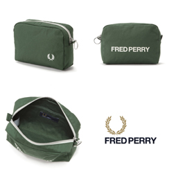 FRED PERRY フレッドペリー / キャンバスポーチ(F19881) Green