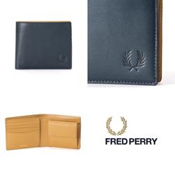 FRED PERRY フレッドペリー / レザービルフォールド(F19867) Navy -送料無料-