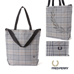 FRED PERRY フレッドペリー / ショルダートートバッグ(F9530) Off White -送料無料-