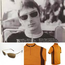 MADCAP ENGLAND マッドキャップイングランド / 60s モッドニットサイクリングトップ(Velocita) Golden Oak Original John オリジナルジョン / サングラス(BEAT SURRENDER) Gold x Brown