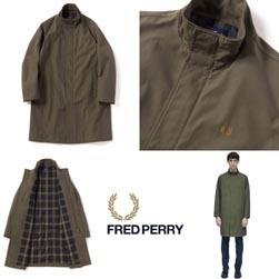 FRED PERRY フレッドペリー / ローレルリーフダイスクーターコート(F2555) Olive -送料無料-